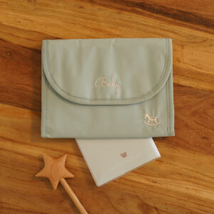 Mother and Child notebook case-Mint